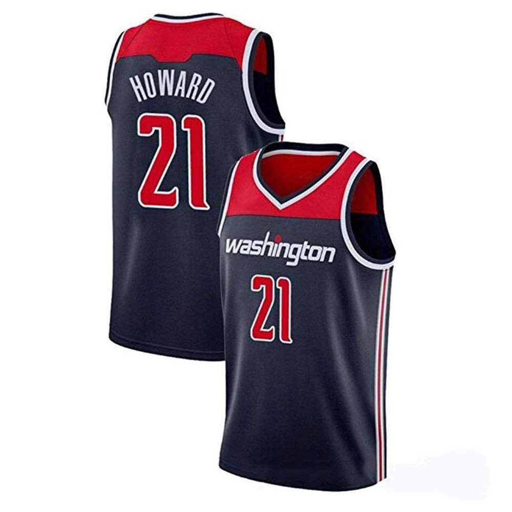 noir L Dwight Howard   21 Basketball Masculin Jersey - NBA Washington Wizards, Basketball engrener Hommes Swinghomme Jersey Manches Sport Débardeur