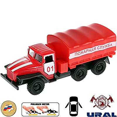Diecast Metal Model Fire Engine Ural 5557 Russian Fire Truck Toy Die-cast: Toys & Games [5Bkhe0307167]