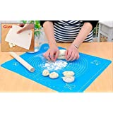 Daiweis Extra Large Silicone Baking Mat for Pastry Rolling with Measurements Pastry Rolling Mat, Reusable Non-Stick Silicone Baking Mat(Present scraper)