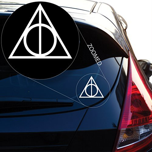 Deathly Hallows inspired Harry Potter Decal Sticker for Car Window, Laptop and More. # 467 (4