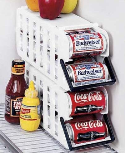 2 Pack Store N' Tote Stackable Can Dispenser Durable Plastic Holder Rack by narastore