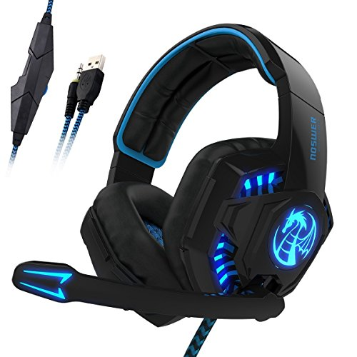 I8 3.5mm Wired PC Over-Ear Stereo Gaming Headset Headphones