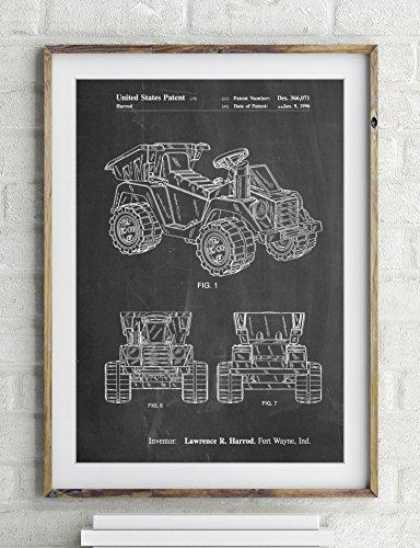 Mattel Kids Dump Truck Patent Poster