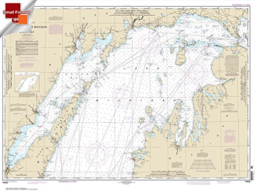 NOAA Chart 14902: North end of Lake Michigan: including Green Bay 21.00 x 28.00 (SMALL FORMAT WATERPROOF) by Paradise Cay Publications