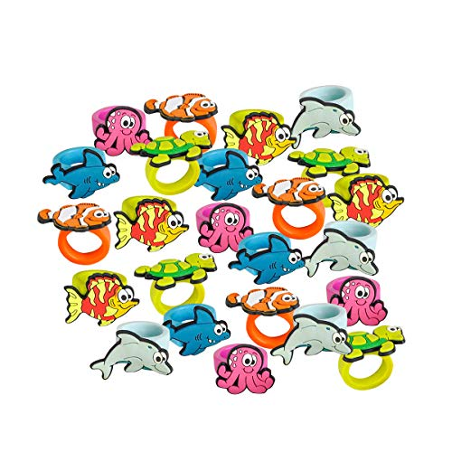 Kicko Sea Life Rubber Rings - Pack of 24 1