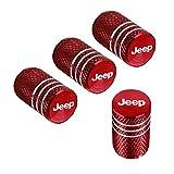 QINGTECH 4pcs for Jeep Valve Stem Caps,Tire Caps