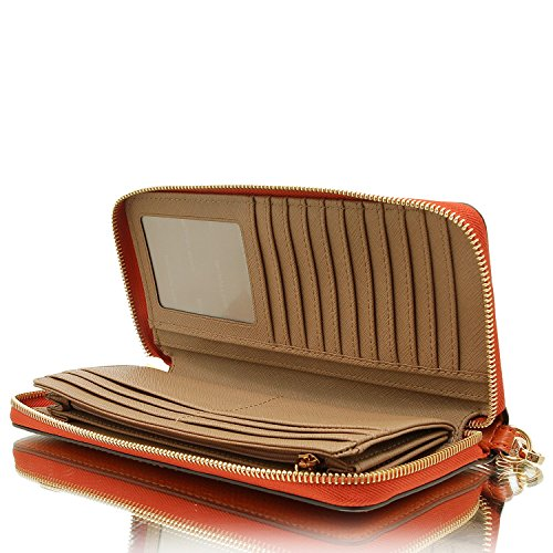 MICHAEL Michael Kors KORS STUDIO Mercer Travel Continental Wallet Orange by MICHAEL Michael Kors (Image #5)