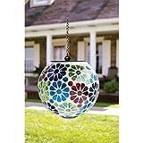 Carson 6 inches Mosaic Daisy Garden Solar Orb