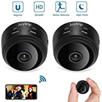 Mini Hidden Camera WiFi 2 Pack, JOYTRIP Wireless HD 1080P IP Spy Camera Home Security Nanny Cam Built-in Battery with Motion Detection/Night Vision/Cell Phone APP for iPhone/iPad/Android (2 Pack)