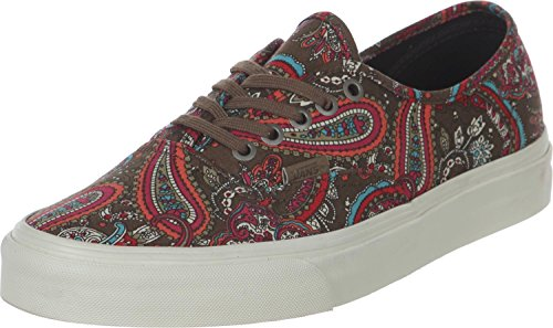 2bfbf97e7b4f Galleon - Vans Authentic California Womens 9   Mens 7.5 Paisley Green Olive  Skateboarding Shoes