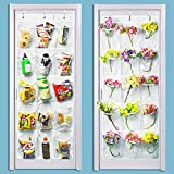 LiyuanQ 2 Pack Over The Door Hanging Pantry Organizer Shoe Organizer - Crystal Clear, White (50'' x 20'')