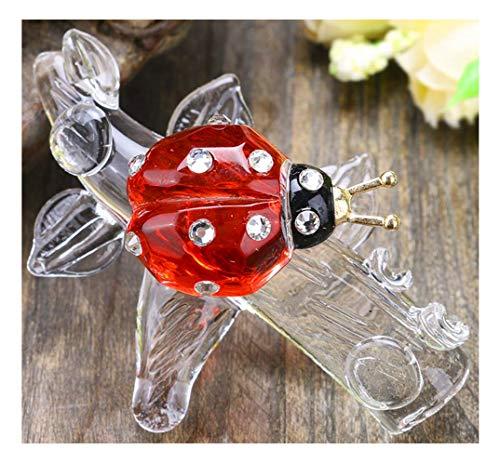 Ladybug Crystal - H&D Crystal Ladybug Figurine Mini Animal Collectible Statue