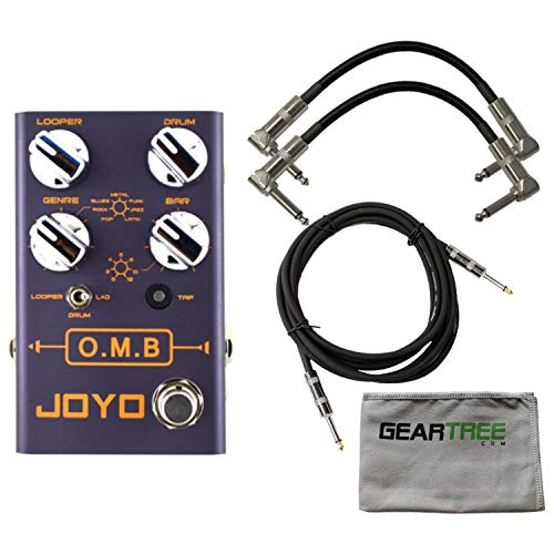 - Joyo R Series R-06 OMB Looper Pedal with Drum Machine Function w/Geartree Cloth