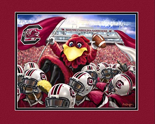 Prints Charming College Celebrate College South Carolina Gamecocks Unframed Poster 12x16 Inches