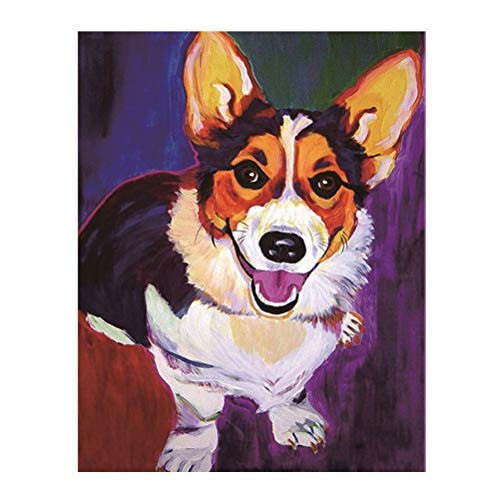 Vosarea Diamond Painting Kit Dog DIY Diamond Embroidery Pain
