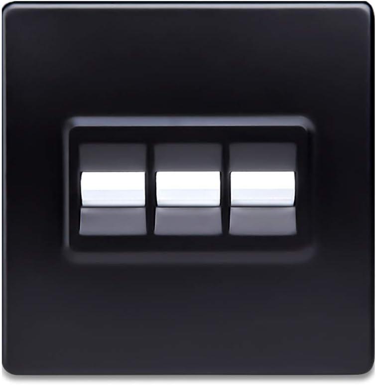 Ploutne El panel de pared interruptor el/éctrico interruptor oculto retro lat/ón palanca del interruptor n/órdica Simple White Switch 86 Tipo 2 v/ías de doble control for Hotel Inicio de la l/ámpara Fixtur