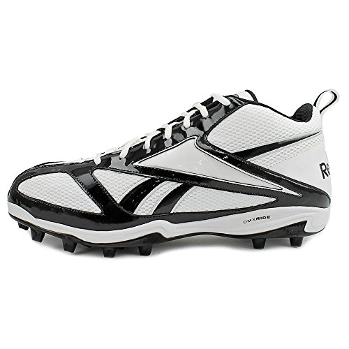REEBOK MENS ELECTRIFY MP2 WHITE BLACK MOLDED FOOTBALL CLEATS 14 M cTHcpS7