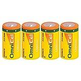 4X OmniCel ER34615 3.6 Volt 19Ah Sz D Lithium Button Top Battery Telematics
