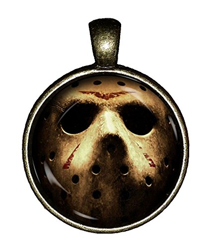 Jason necklace handmade Friday the 13th hockey mask killer Jewelry Pendant Charm Gift