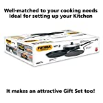 Hawkins Futura Nonstick Cookware Set 2 (Tava, Frying Pan, Curry Pan / Saute Pan with One Stainless Steel Lid), Black…