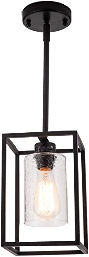 VILUXY Vintage Glass Pendant Light