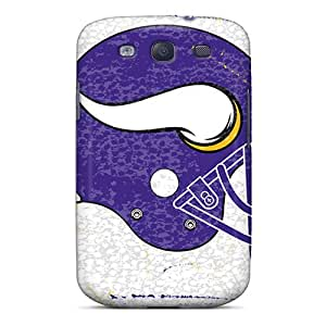 DannyLCHEUNG Samsung Galaxy S3 Bumper Hard Cell-phone Case Allow Personal Design Lifelike Minnesota Vikings Pictures [BkL12846fgYj]