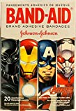Band-Aid Brand Adhesive Bandages - Marvel Avengers - 20 Count Assorted Bandages - Pack of 4 Boxes (Packaging Varies)