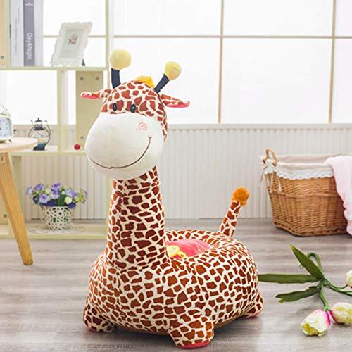 (Childrens Sofa, Kids Armchair Cute Little Sofa, Cartoon Seat Doll Plush Toy Baby-Kids Sofa Safety Seat,Braun A,45x45x65cm)