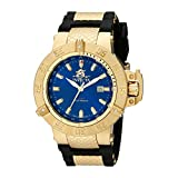 Invicta Men's 1150 Subaqua Noma III GMT Blue Dial Black Polyurethane Watch