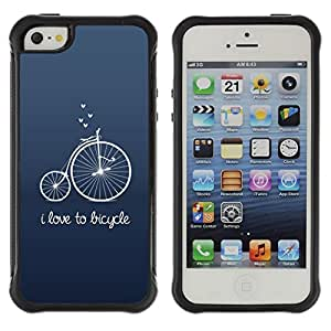 Suave TPU GEL Carcasa Funda Silicona Blando Estuche Caso de protección (para) Apple Iphone 5 / 5S / CECELL Phone case / / Old Unic Blue Text Hipster /