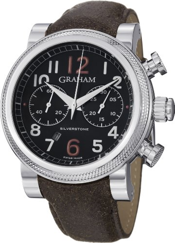 Graham Men's 2BLFS.B36A Silverstone Analog Display Swiss Automatic Brown Watch