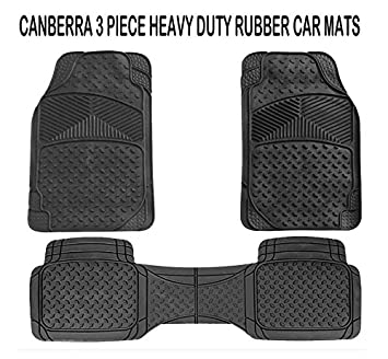 4 Pieces Black Hotstar Products Universal Rubber Car Foot Mats Set