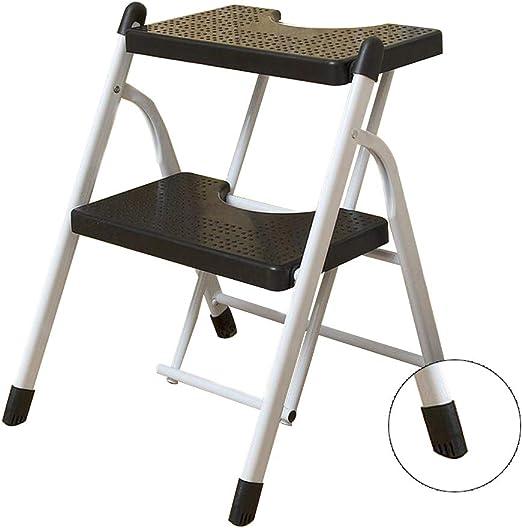Bseack_store Escalera Taburete, Escalera 2 Pasos PP Pedal de plástico Plegable del Taburete Escalera de Doble propósito multifunción Cambiar Hogar Zapatos Ascendente (Color : Negro): Amazon.es: Hogar