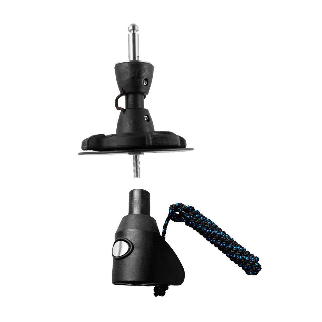 Baoblaze Windsurfing Mast Adapter Extension Connector Base Aluminum RDM and Mask Base