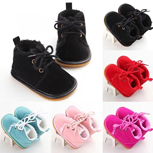 DZT1968 Baby Girl Boy Anti Slip Sole Thick Snow Boots Shoes Sneaker