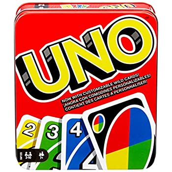 UNO Household Card Recreation, with 112 Playing cards in a Sturdy Storage Tin, Journey-Pleasant, Makes a Nice Reward for 7 Yr Olds and Up [Amazon Exclusive]
