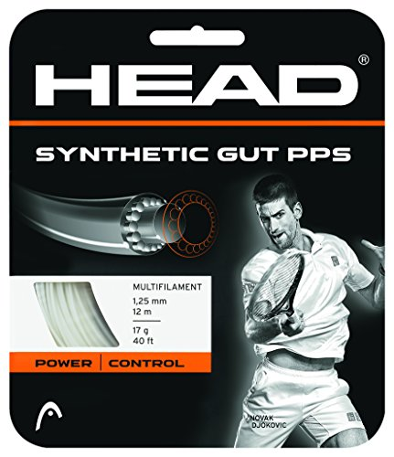 HEAD Synthetic Gut PPS Tennis String Set, 16g, White - Tennis Racket String