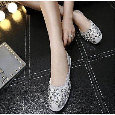 Cómodo y elegante soporte de zapatos de las mujeres pisos Otros Piel Sintética al aire libre negro rosa gris negro
