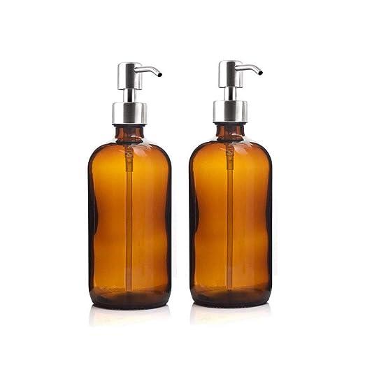 Lwl 16 Oz Grande 500ml Botella Alimentador del jabón líquido ámbar ...