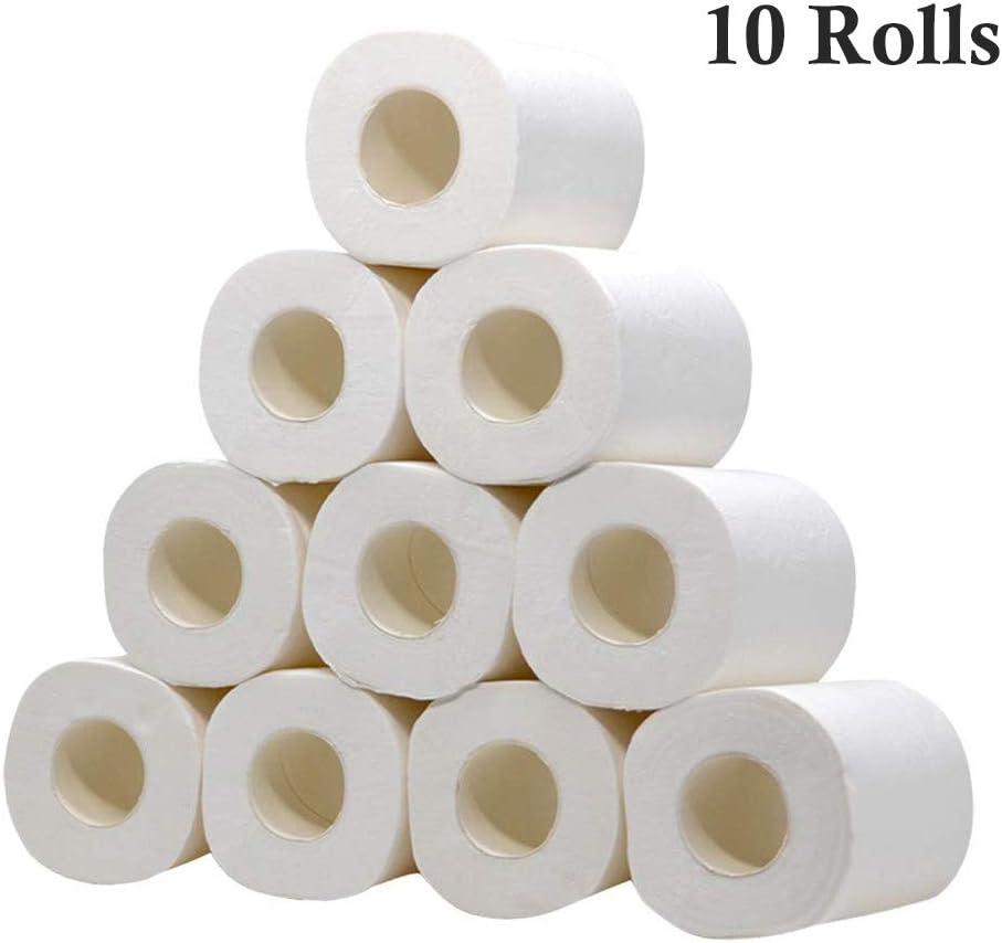 Rapid Dissolving Toilet Paper Smooth Soft Professional Series PremiumToilet Paper 10 Rolls White Toilet Paper