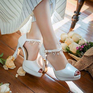 LvYuan Mujer-Tacón Robusto-Otro-Sandalias-Vestido Informal Fiesta y Noche-PU-Azul Rosa Blanco White