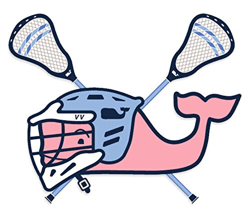 Authentic Vineyard Vines Lacrosse Sticker Decal Southern Proper Whale Bumper Sticker Lax Decal