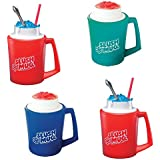 Slush Mugs - Frozen Beverage Slushie Cups Set of 4