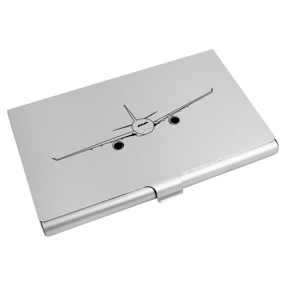 'Avión entrante' Tarjeta de Visita Titular / Tarjeta de Crédito Billetera (CH00001549) Azeeda