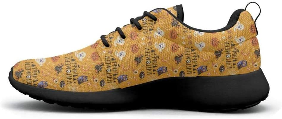 Gjsonmv Bats Halloween Bat owl mesh Lightweight Shoes for Women Fashion Sports Trail Running Sneakers Shoes