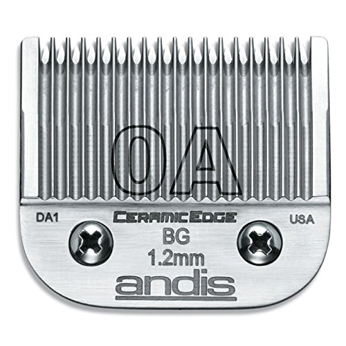 Price comparison product image Andis CeramicEdge Carbon-Infused Steel Clipper Blade, Size-0A, 3/64-Inch Cut Length (64470)