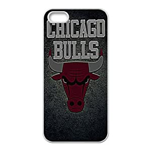 Chicago Bulls NBA White Phone Case for iPhone 5S Case