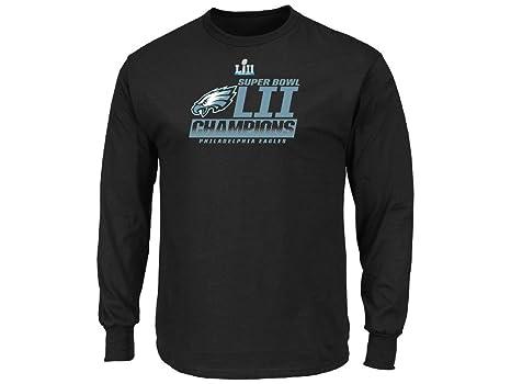 c1c6adba Philadelphia Eagles Black Super Bowl LII Champions Fanfare Big & Tall Long  Sleeve T-shirt