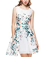 Purpura Erizo Elegant Womens Allover Slender Waist One-piece Dress