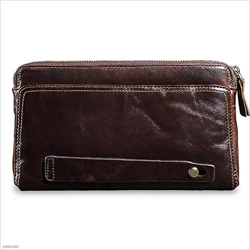 Portafoglio Grande Pelle Uomo Bag Funzione Cerniera Borsa Bag In Pochette Uomo Multi Capacità Marea Business Iw0ffXq